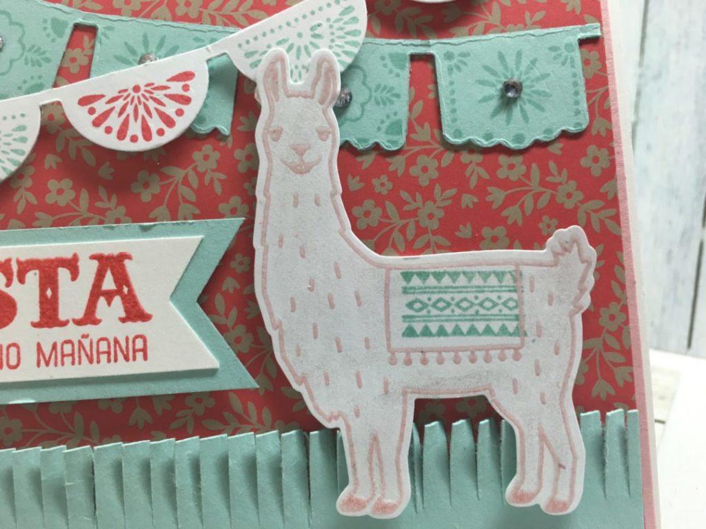Blushing Bride Embossed Llama