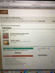 Shopping Card Online Ordering - See Hostess Code Box highlighted in GREEN