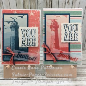 High Tide - Sneak Peek - It's a Party! By the Shore DSP, Marquee Messages, Clear Embossing Powder with Classic Stampin Pad