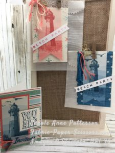 High Tide - Sneak Peek - Glassine Party bags embossed with Seaside Textured Embossing Folder
