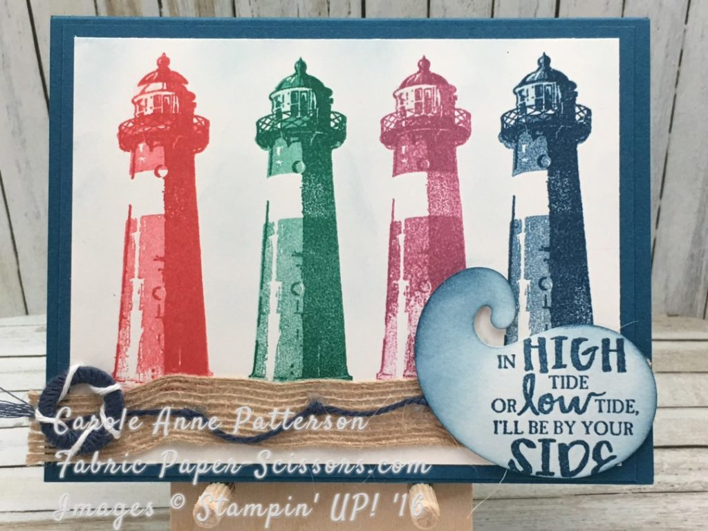 Colorful Lighthouses with Paisley Framelit for wave