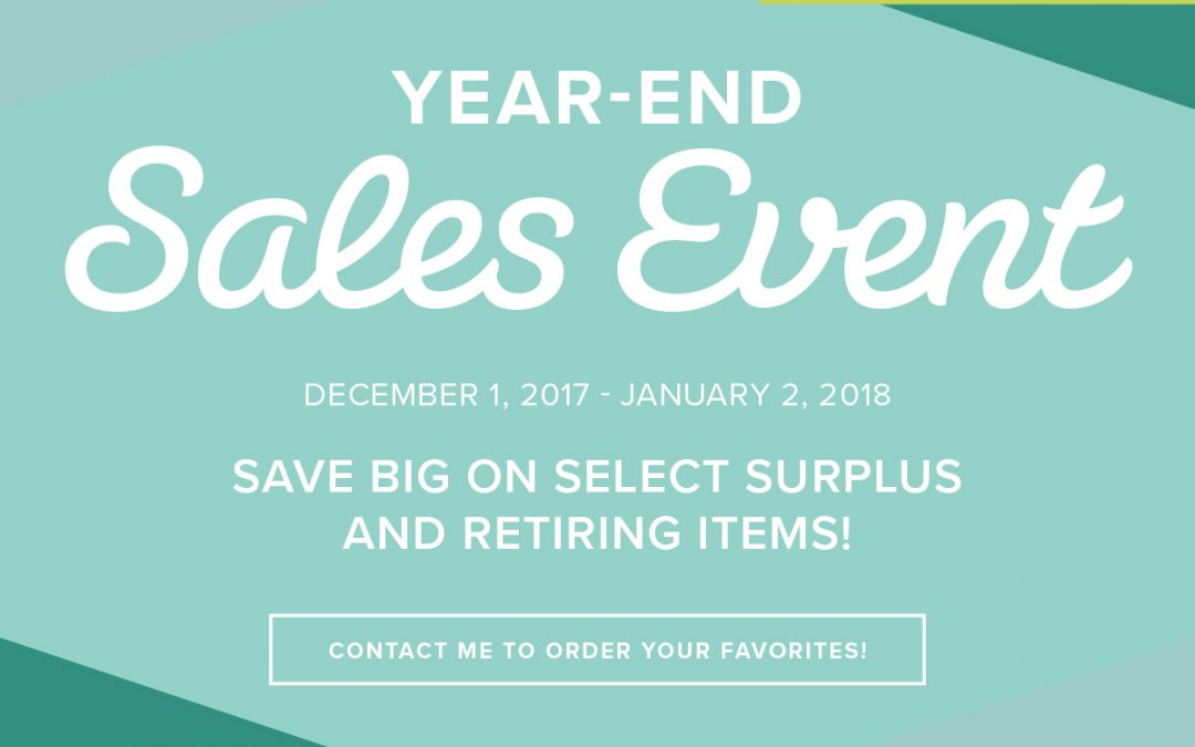 End of Year Sale!!!